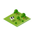 rural countryside ecological landscape farm with vector image