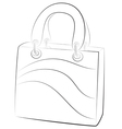 simple handbags on white background contour vector image