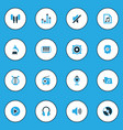 music colorful icons set collection of volume vector image