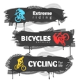 BMX Horizontal Banners Set vector image vector image