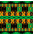 Green and brown ethnic carpet vector image vector image