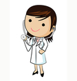 Doctor and stethoscope vector image