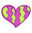 Funny colorful heart background vector image