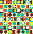 Geometric abstract seamless pattern Retro 60s vector image