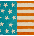 Grunge paper texture american flag vector image