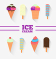 Ice-cream design set vector image