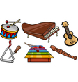 musical objects cartoon set vector image