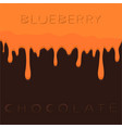 natural blueberry vector image