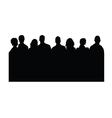 people silhouette on white vector image