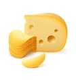 Potato Chips Stack with Cheese on Background vector image