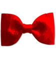 red bow tie vector image
