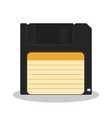 retro floppy diskette isolated on a white vector image
