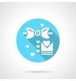 Round blue wedding MC flat icon vector image