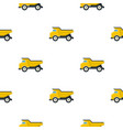 Yellow dump truck pattern flat vector image