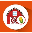 corn and sun icon vector image