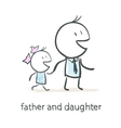 Father and daughter vector image