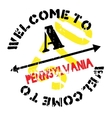 Pennsylvania stamp rubber grunge vector image