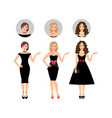 beauty women set vector image