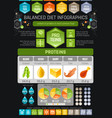 Proteins diet infographic diagram poster water vector image