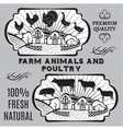 Farm animals and poultry vector image