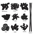 Type of Pasta Set vector image