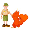 Ranger with squirrel vector image vector image