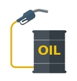 Metal barrels with gas pump vector image