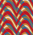 Retro 3D bulging red and blue waves diagonally cut vector image vector image