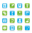 healthcare and medicine icons vector image vector image