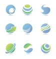 globe logo vector image