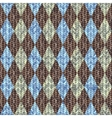 Classic argyle pattern in knitting style vector image