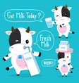 cow cute character cartoon design vector image