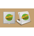 Digital silver recycle paper pizza delivery vector image