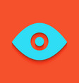 eye sign whitish icon on vector image
