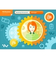 Female bank manager profession concept vector image
