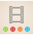 film strip icons vector image
