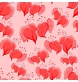 romantic seamless pattern with abstract hearts vector image