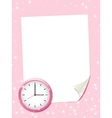 White paper sheet on the pink background vector image vector image