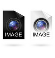 file type black and white icons on white vector image vector image