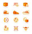 logistics icons - juicyy series vector image vector image