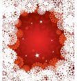 Christmas snowflake pattern vector image vector image