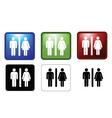 mf toilets vector image