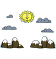 applique mountain scenery vector image