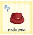 Flashcard letter P is for purse vector image vector image