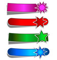 coloured star banners vector image vector image