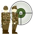 German snipers during the Second World War vector image