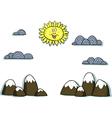 applique mountain scenery vector image