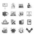Finance Icon Black Set vector image