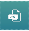JPG image file extension icon vector image