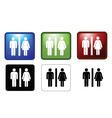 Mf toilets vector image